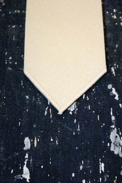 Hemp tie natural white