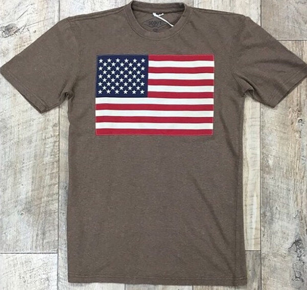 American Flag Hemp T-Shirt