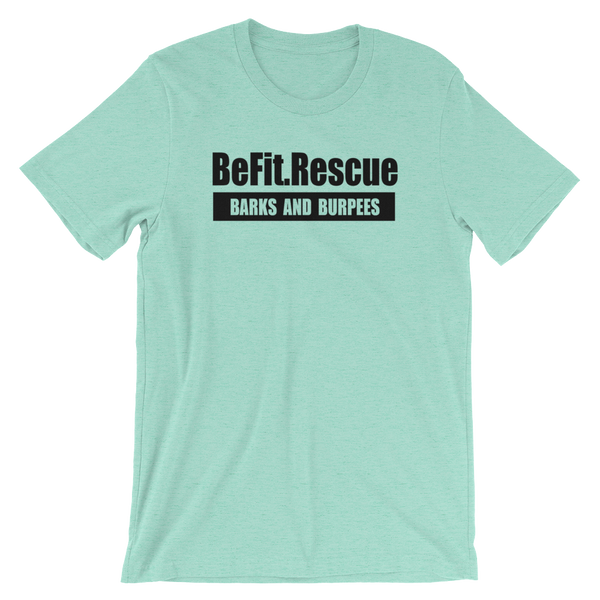 BE FIT. RESCUE HEATHER MINT TEE