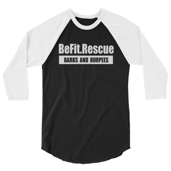 BE FIT. RESCUE BASEBALL TEE (UNISEX)