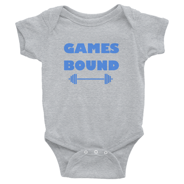 Barks and Burpees Games Bound Infant Onesie - Crossfit - Fitness & Animal Rescue