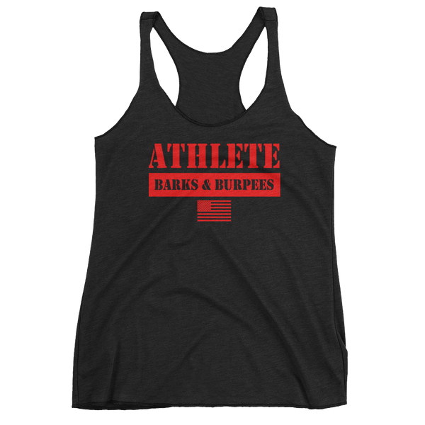 ATHLETE TANK - RED ON BLACK