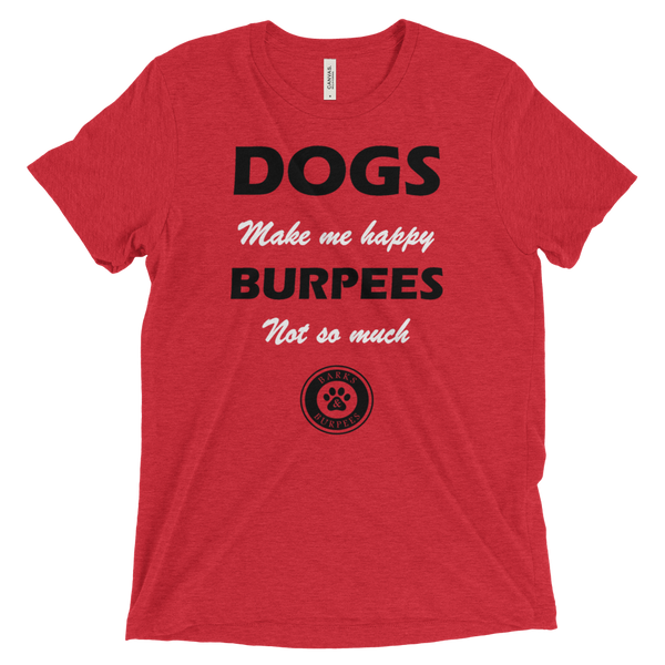 Barks and Burpees Tee - Dogs & Burpees - Fitness & Animal Rescue
