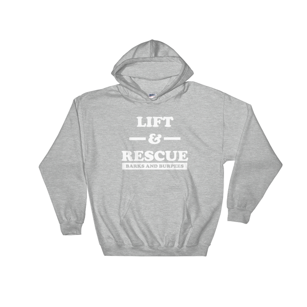 LIFT & RESCUE HOODED SWEATSHIRT (UNISEX)