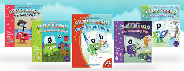 Alphablocks Phonics Bundle: 4 readers and an activity book