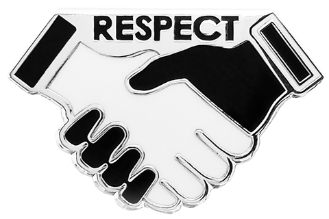 Hands of Respect Lapel Pin