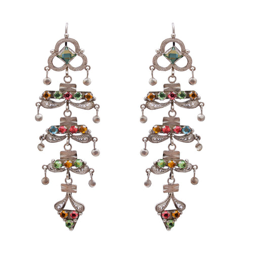Filigree 5 Palmas Multicolor Earrings