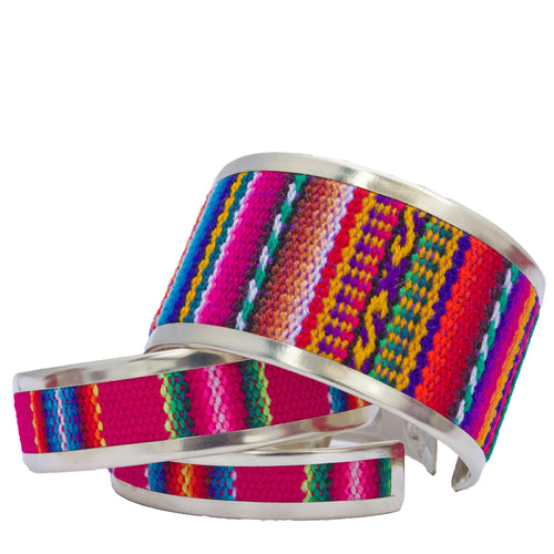 Stripped Andean Collection Cuffs