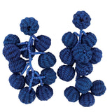 Toquilla Straw Blue Rama Earrings