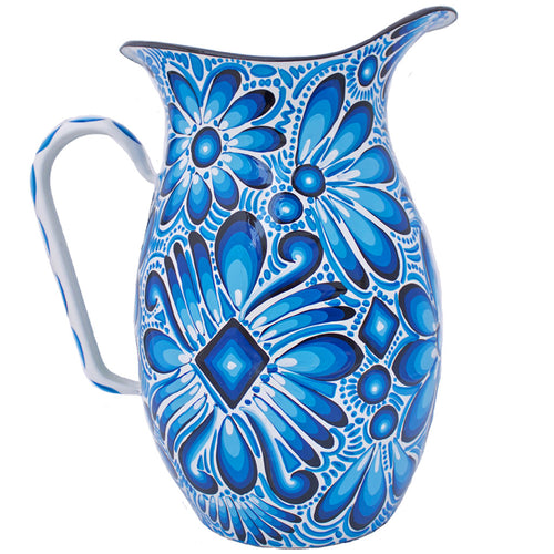 Blue Tigua Pitcher