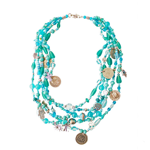 Contemporary Turquoise Hualcas Necklace