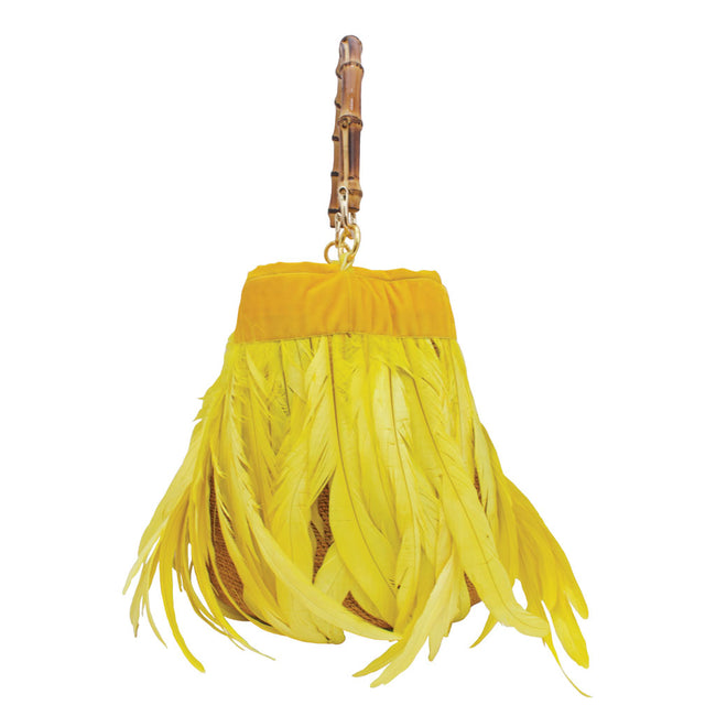 Gallina Canary Yellow Shigra Bag