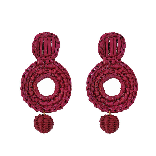Toquilla Straw Geometric Earrings