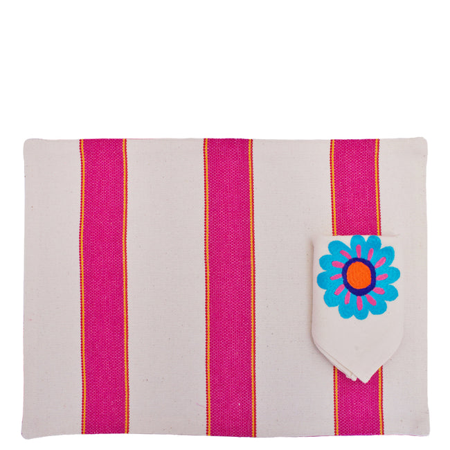 Flora Placemat and Napkin Set