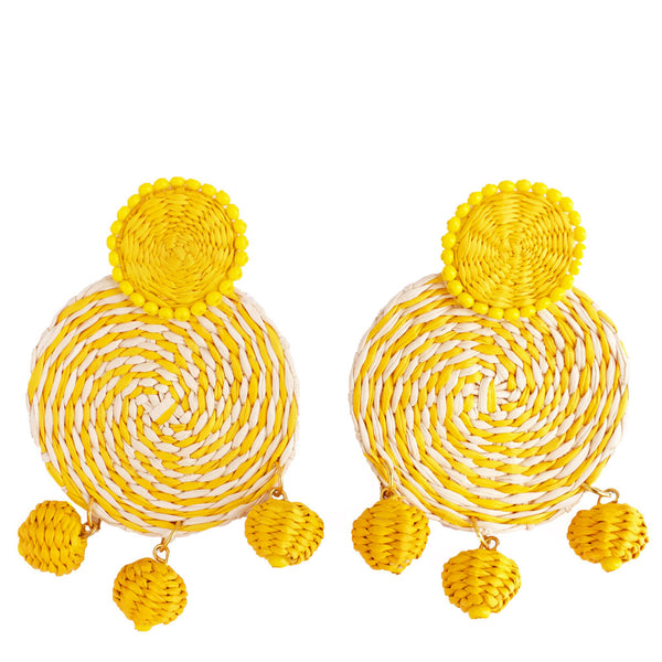 Toquilla Straw Inti Earrings