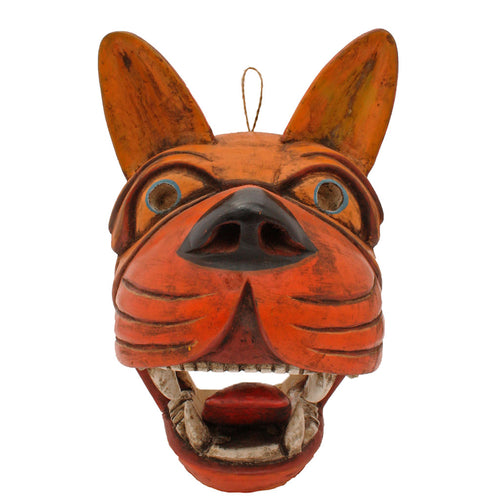 Andean Lobo Wooden Mask