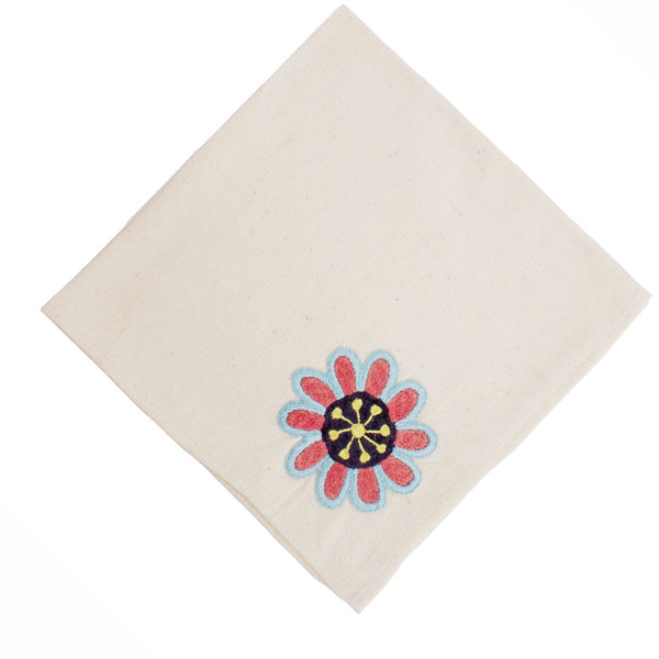 Flora Hand embroidered Napkin Set