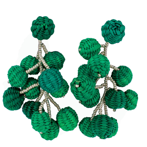 Toquilla Straw Esmeralda Rama Earrings