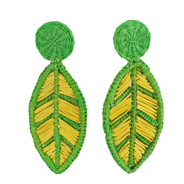 Toquilla Straw Puyo Earrings