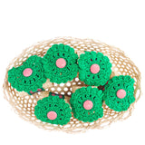 Crochet and Straw Napkin Rings