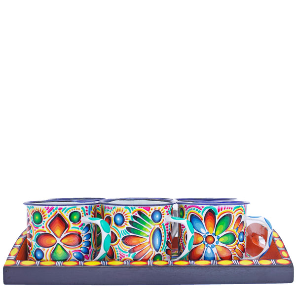 Tigua Tray and Cups Set