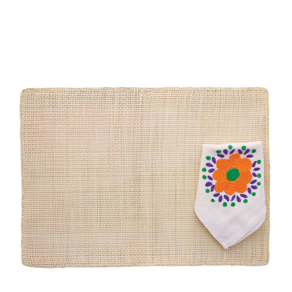 Flora Toquilla Placemat and Napkin Set