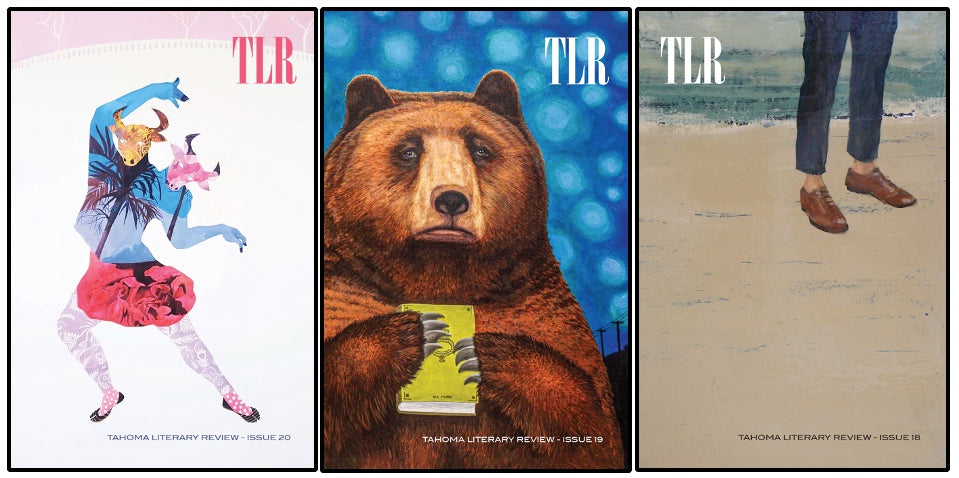 Three covers of Tahoma Literary Review