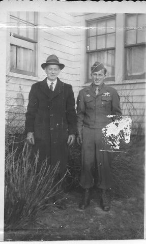 Uncle George with his father, 1943