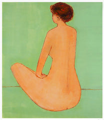 Sitting Nude #1, a painting by Annie Meyer