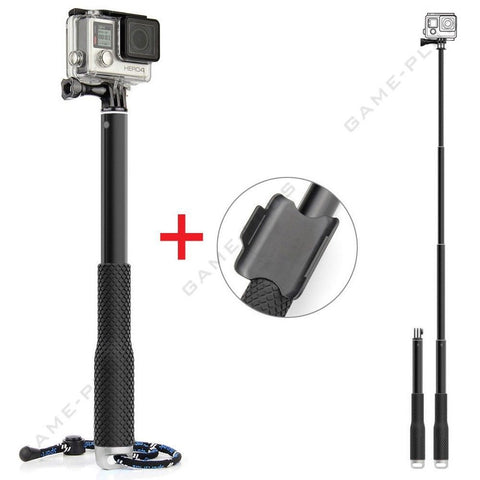 Waterproof Monopod Handheld Selfie Stick Pole for GoPro Hero 4 3 2 SJ4000 Silver