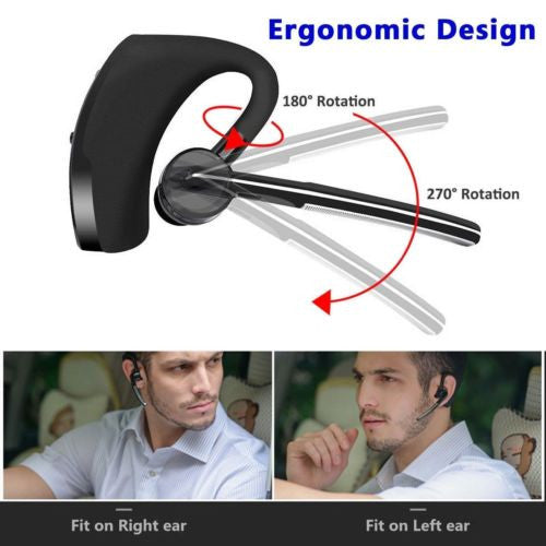 Wireless Bluetooth 4.0 Stereo Business Work Headset Earphone For iPhone Samsung