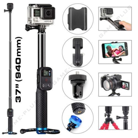 Extendable Telescopic Monopod Selfie Pole Handheld Stick for GoPro Hero 4 3+ 3 2