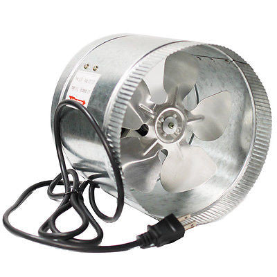 10'' Inch Booster Fan Inline Blower Exhaust Ducting Cooling Vent HPS Hydroponic