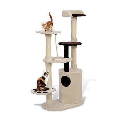 55'' Cat Tree Tower Scratching Post Condo Furniture Pet Kitty Play House Toy