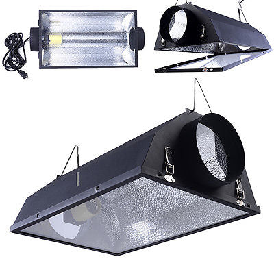 6'' Air Cooled Hood Reflector  Hydroponics Light Grow Hydroponic W/ Glass Cover