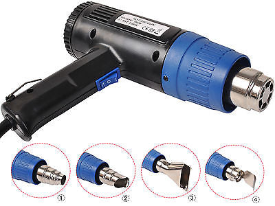 Heat Gun Hot Air Gun Dual Temperature+4 Nozzles Power Tool 1500 W Heater Gun