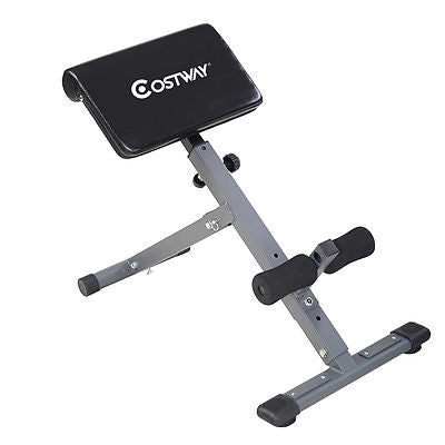 Costway Adjustable AB Back Bench Hyperextension Exercise Abdominal Roman Chair