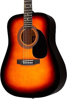 Rogue RA-090 Dreadnought Acoustic Guitar Sunburst