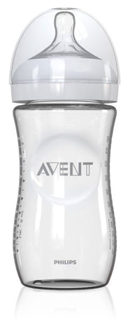 Philips Avent Natural Glass Baby Bottle, 1 Count, 8 Ounce
