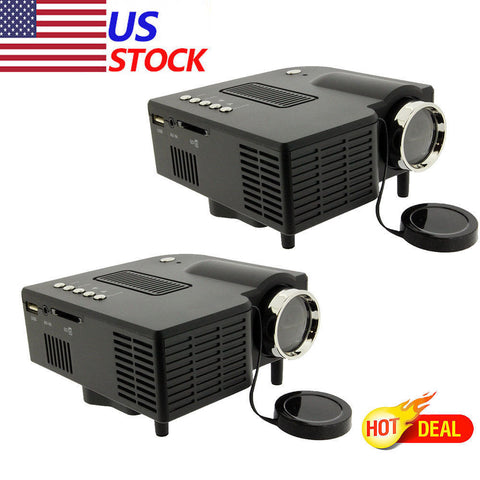 LOT 5 HD 1080P Home Theater LED Mini Multimedia Projector Cinema USB TV HDMI