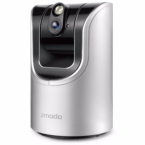 Zmodo PanTilt 720p HD WiFi IP IR Security Camera 2-Way Audio Connects Wirelessly