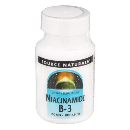 Source Naturals Niacinamide Vitamin B-3 Dietary Supplement 100mg - 100 Tablets