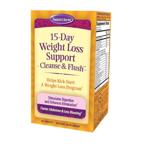 Nature's Secret 15-Day Weight Loss Cleanse and Flush - 60 Tablets