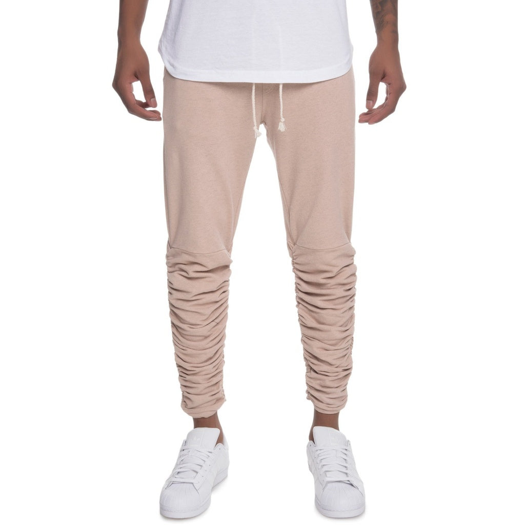 The Santos Rouched Leg Jogger Sweats in Taupe