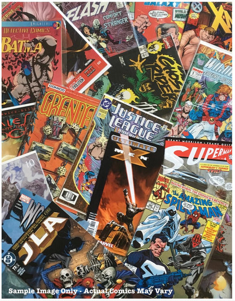 50 Random Comics Grab Bag Lot DC MARVEL Superman SPIDER-MAN Batman X-MEN Independents