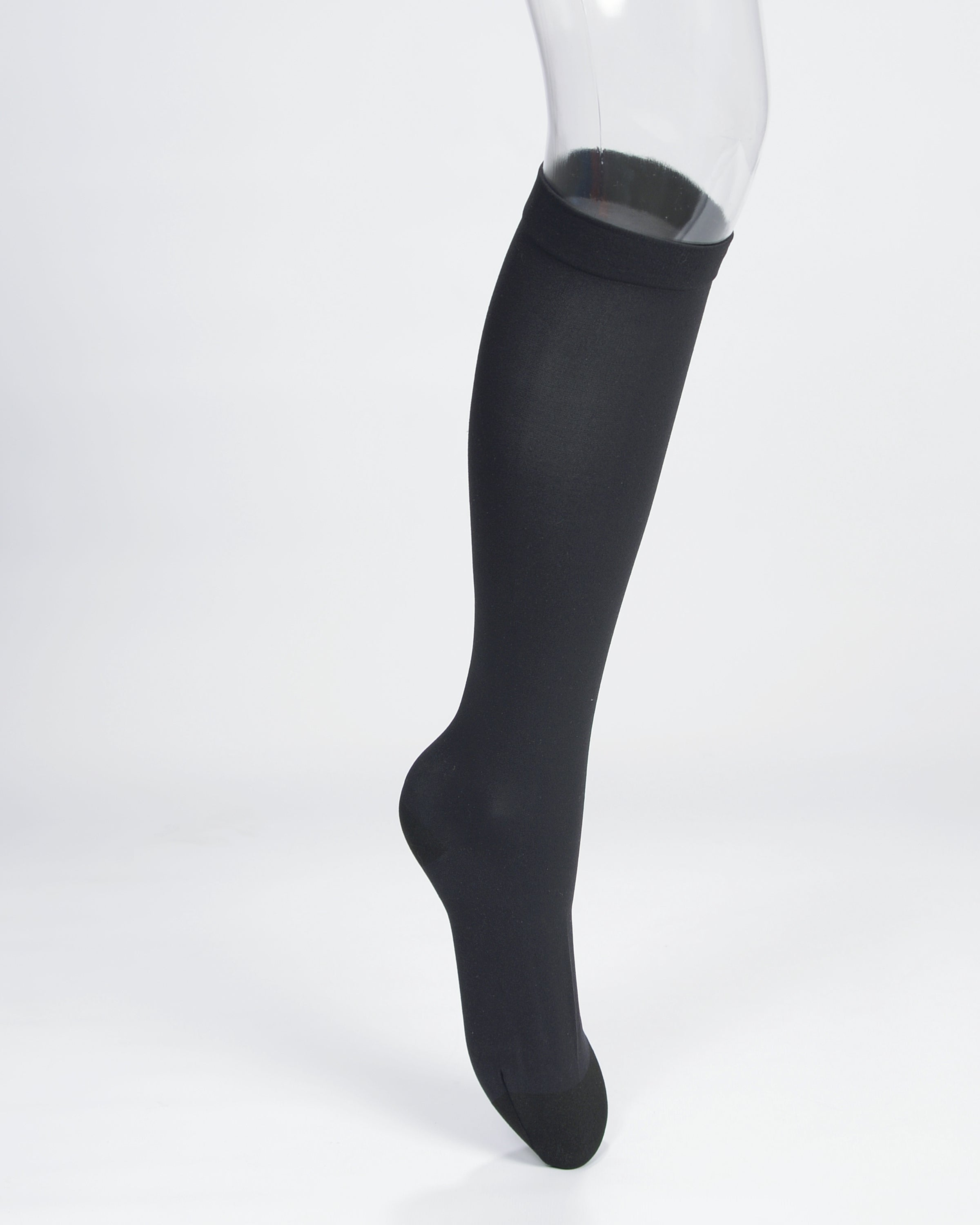Gute Füße Designer Sheer Compression Hosiery (Black)