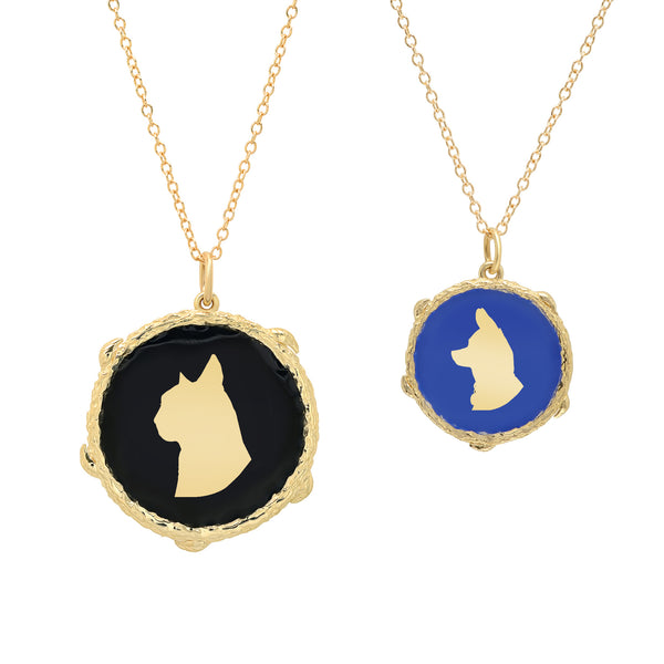 Pet Silhouette Necklace, Small