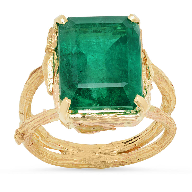 Zambian Emerald Willow Ring