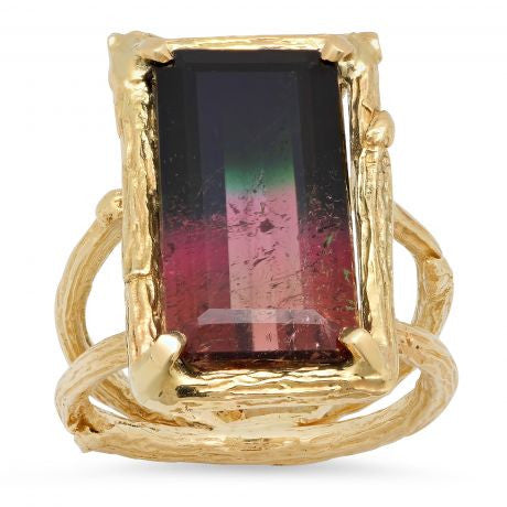 Bi Color Tourmaline Ring