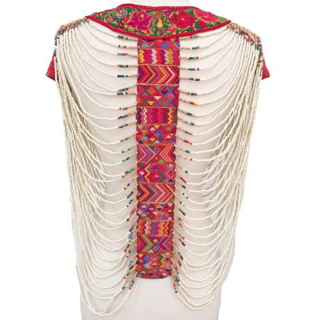 Beaded Blouse, White